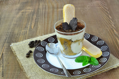 Tiramisu in glass - dessert