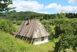 old rural house in Carpathian mountains