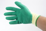 protective gloves on white background
