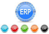 erp icon vector set
