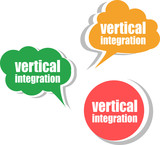 vertical integration. Set of stickers, labels, tags. Business