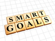 smart goals in golden cubes