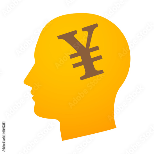 Head with currency sign