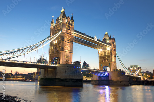London Tower Bridge At Twilight