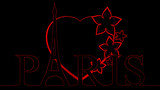 Eiffel Heart - Red & Black
