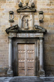 Entrance to the chapel of San Bernardo in Oropesa. Spain.