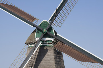 Detail of wooden Dutch windmill