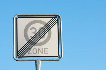Ende der 30er Zone