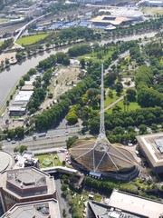 The Arts Centre spire in Melbourne in Victoria