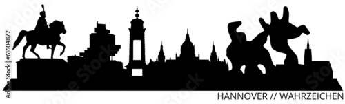 Hannover Skyline // Wahrzeichen // Silhouette