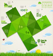 Ecology infographic design template