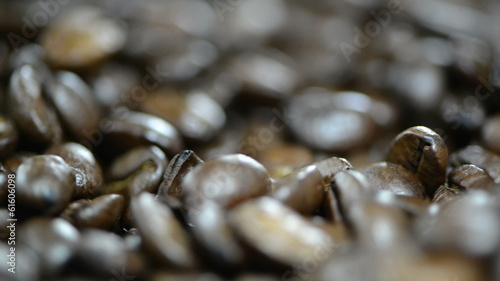 Rotating Coffee Beans macro video (loopable HD file)