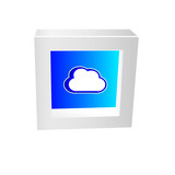 cloud icon framed 3