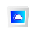 cloud icon framed