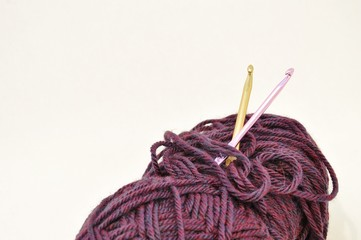 Yarn with Crochet hooks