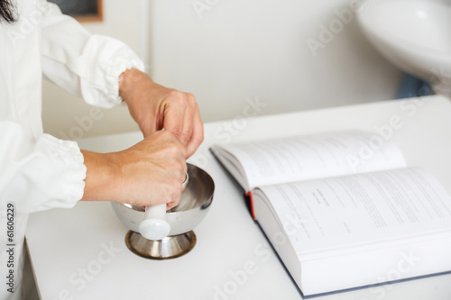 Pharmaceutical doctor preparing medication