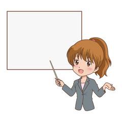 女性/教える