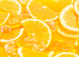 pieces of orange in juice