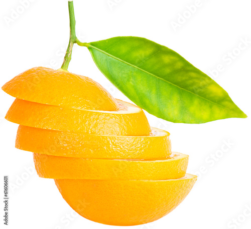 canvas print picture Sliced orange