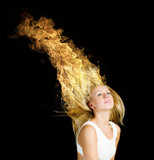 Hair in fire