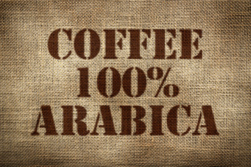 Sack of coffee 100% arabica