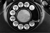 Black and White Vintage Phone Dial