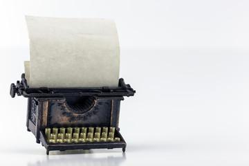 Angled Bronze Typewriter