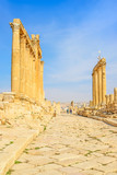 Cardo Colonnaded in the ancient Jordanian city of Jerash, Jordan