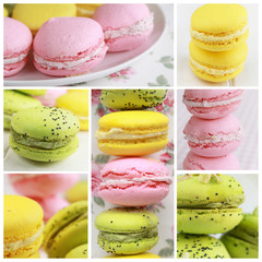 Macarons collage