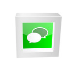 chat icon framed glossy