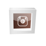 camera icon framed glossy