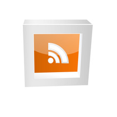 rss icon framed glossy
