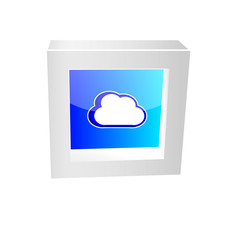 cloud icon framed glossy