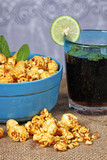caramel popcorn and cola mint