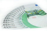 banknotes in a row  European Union Currency