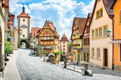 Deurstickers Alpen Medieval town of Rothenburg ob der Tauber, Bavaria, Germany