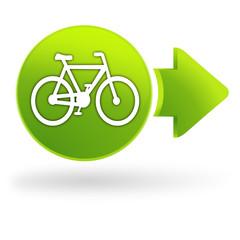 vélo sur symbole web vert