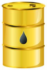 A golden oil barrel