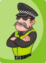 police officer illustration