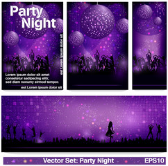 Flyer Set Party Night