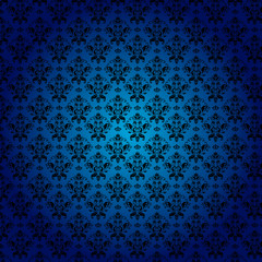 Damask seamless floral classic pattern.