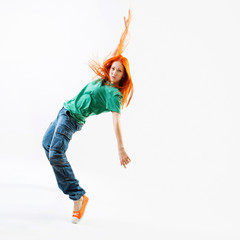 Modern style female dancer