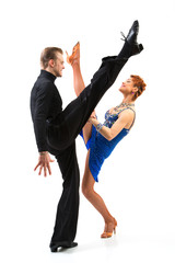 Two elegance dancers.