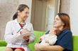 pediatrician  of prescribes to newborn baby the medication