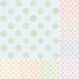 seamless gold polka dots pattern
