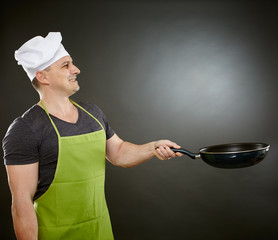 Cook with wok