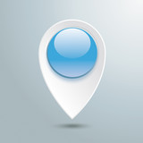 Location Marker Blue Button