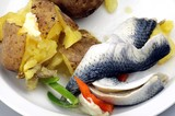 herring with potatoes and buttered