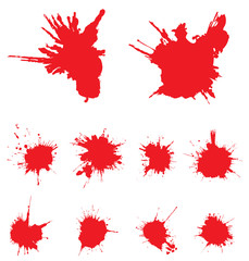 Vector red scratched, crumpled background (splashing, blob, sp