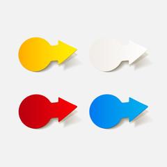 realistic design element: arrow